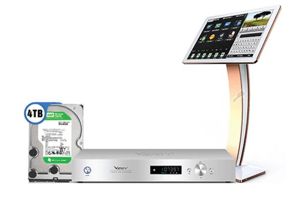 Combo đầu karaoke VietKTV HD Plus 4TB + Màn hình 22