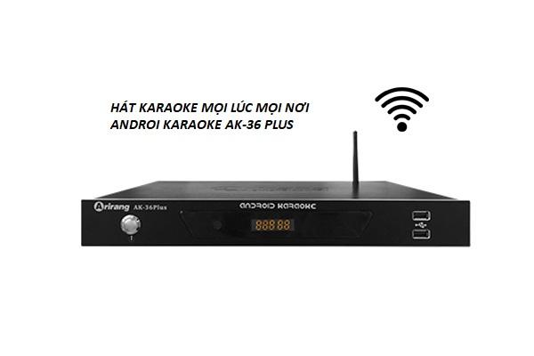 Đầu karaoke Arirang AK36 Plus kho dữ liệu bài hát khổng lồ
