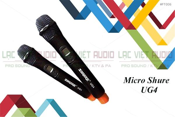Micro Shure UG4 thiết ké đẹp mắt