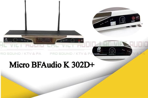 BFAUDIO K 302D+ thiết kế đẹp