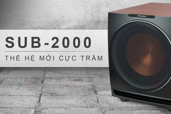 Loa Sub Paramax Sub2000 với âm trầm hoàn hảo