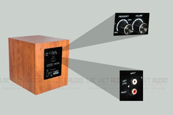 Thiết kế mặt amply của loa Paramax Sub2000