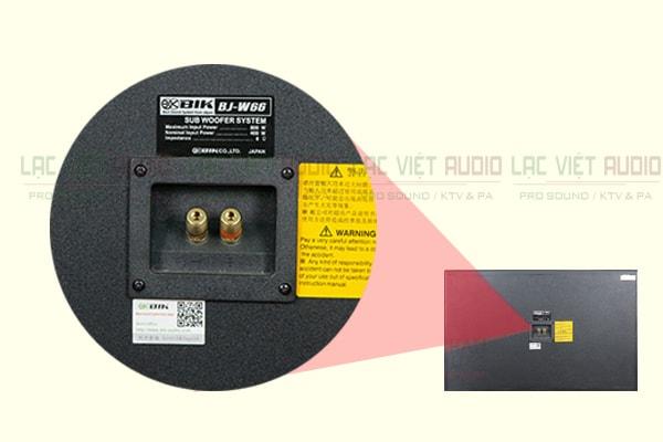 Cấu tạo mặt sau của loa BIK W66 Lạc Việt Audio