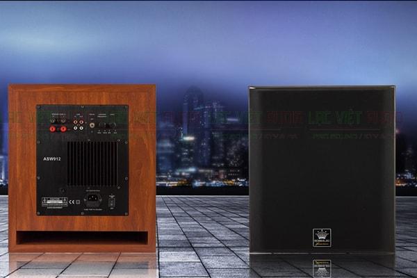 Mặt trước và sau của loa Sub Boss asw 912 Lạc Việt Audio