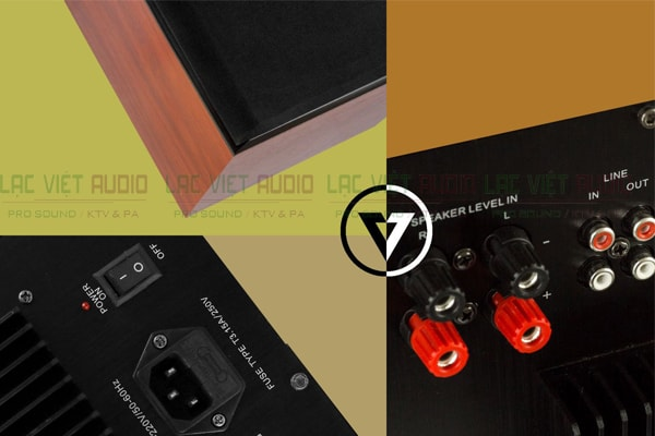 Chi tiết cấu tạo loa sub Boss ASW 912 Lạc Việt Audio