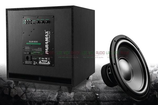 Cấu tạo mặt sau loa sub paramax SUB600 Lạc Việt Audio