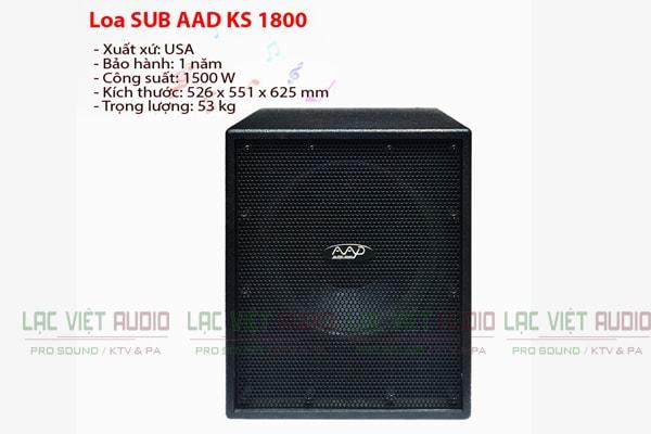 Thông tin kỹ thuật của loa SSD KS 1800 - Lạc việt Audio