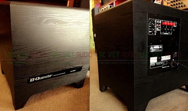 Mặt trước và sau của sản phẩm loa sub BIK BJ W30 - Lạc Việt Audio