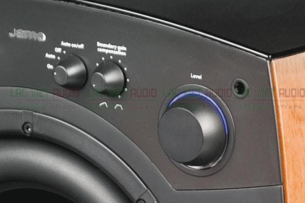 Bảng điều khiển của loa sub Jamo C80 Lạc Việt Audio