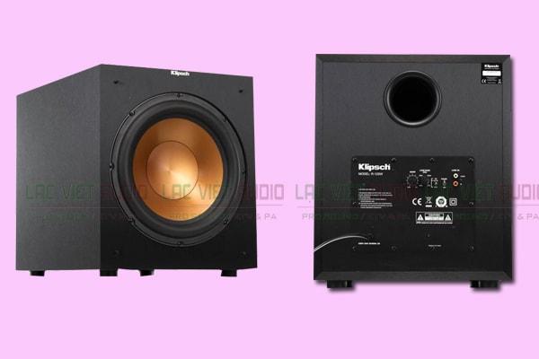 Mặt trước và sau của Loa sub Klipsch R12 SW Lạc Việt Audio