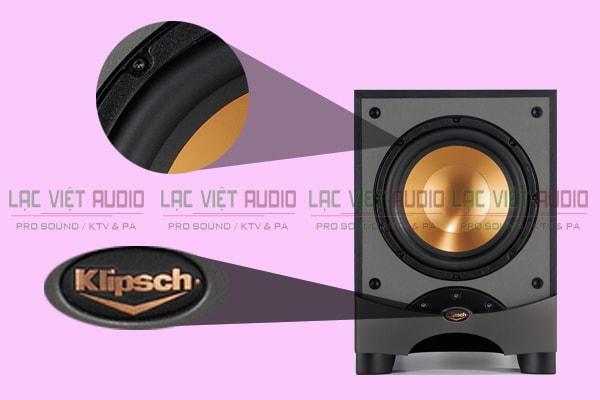Chi tiết cấu tạo mặt trước loa sub Klipsch RW 10 Lạc Việt Audio
