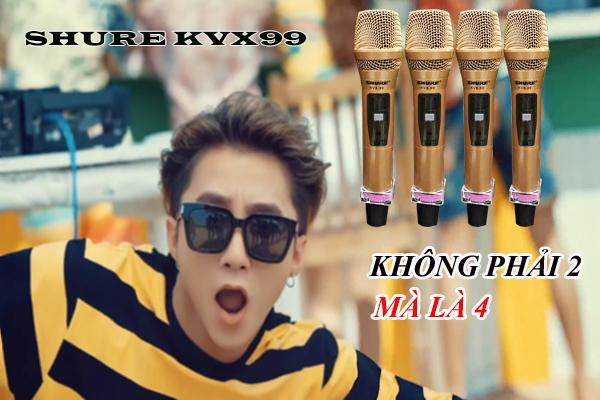 Ưu điểm 4 micro của Shure KVX99