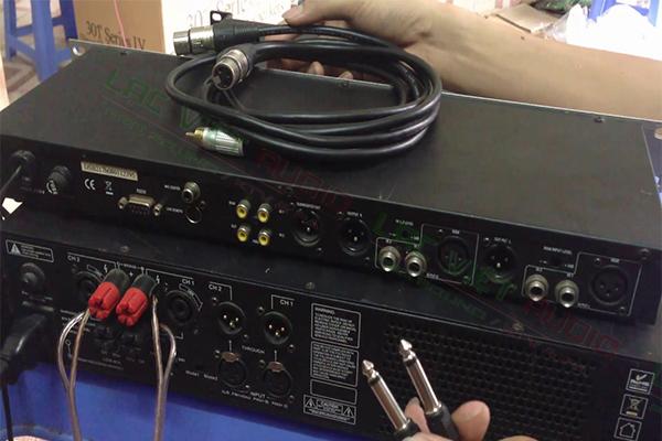 Lắp đặt vang số K9100 cùng cục đẩy công suất