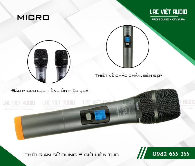 Cấu tạo tay cầm của thiết bị mic BBS U 4500GS