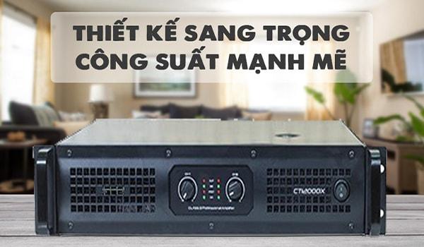 Cục đẩy công suất SAE CT12000X thiết kế sang trọng