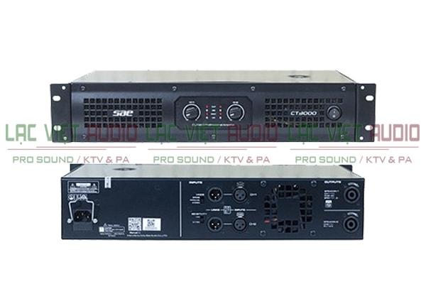Cục đẩy công suất SAE CT3000 mặt sau