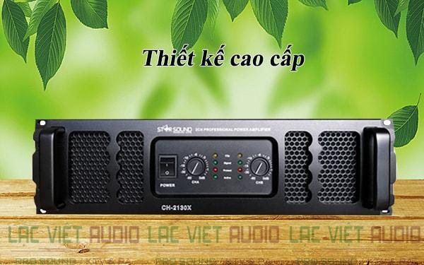 Cục đẩy công suất Star Sound CH 2130X thiết kế