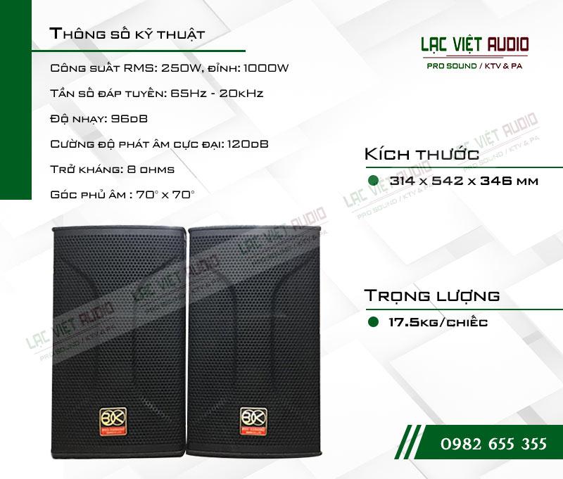 Tính năng của sản phẩm Loa BIK BSP 810