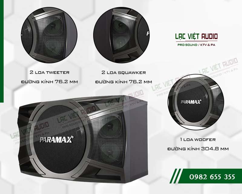 Tính năng của sản phẩm Loa Paramax P2000 New 2018
