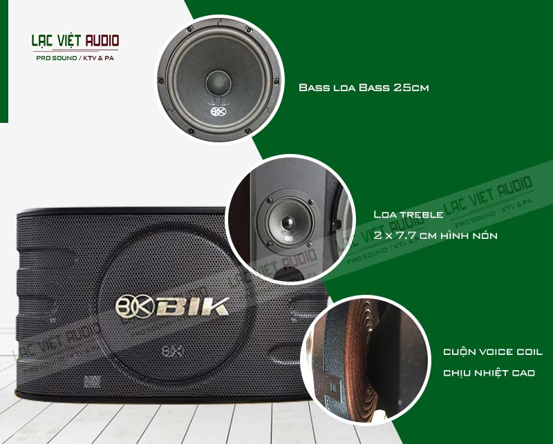 Tính năng của sản phẩm Loa BIK BJ S668