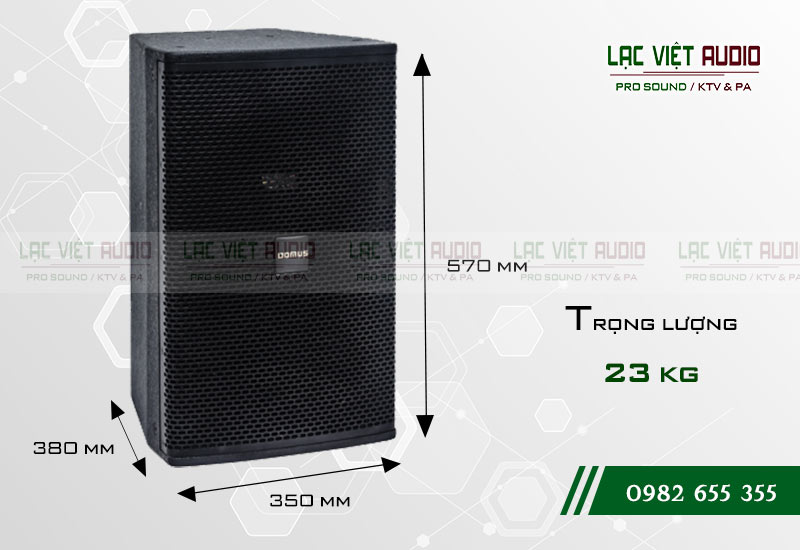 Thiết kế của sản phẩm Loa Domus DP 6120