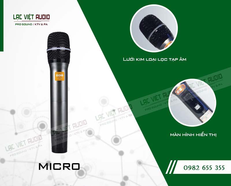 Cấu tạo chi tiết tay cầm của micro