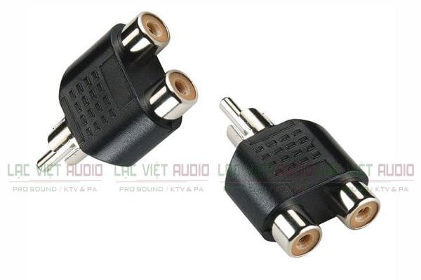 2 đầu chia tín hiệu âm thanh loại cổng RCA