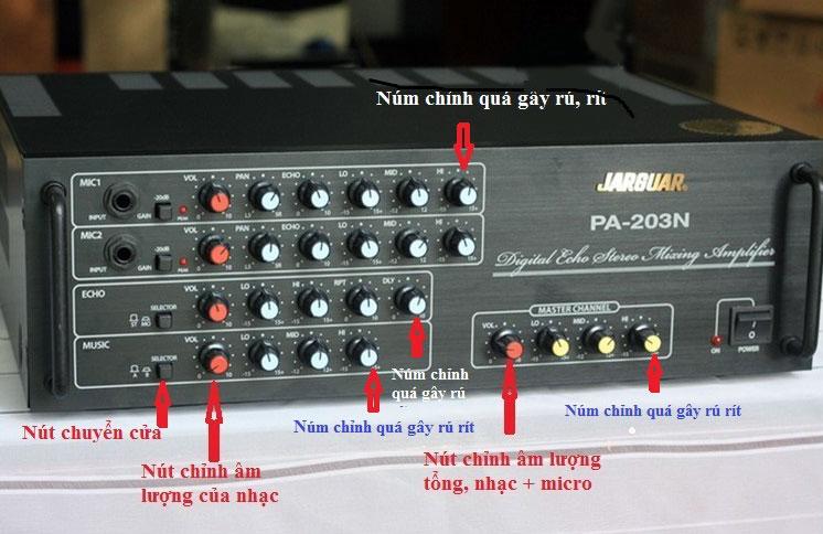 Chi tiết điều chỉnh amply Karaoke