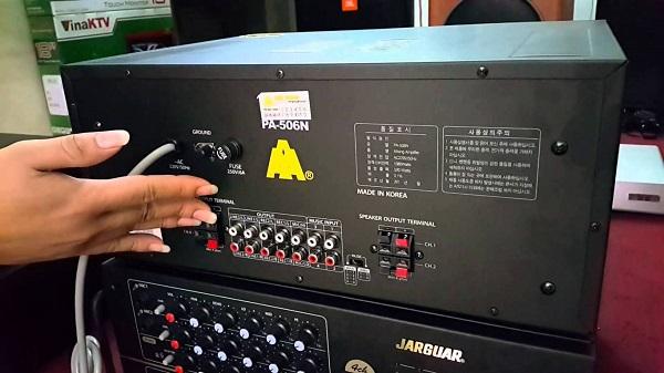 Kiểm tra kết nối amply karaoke