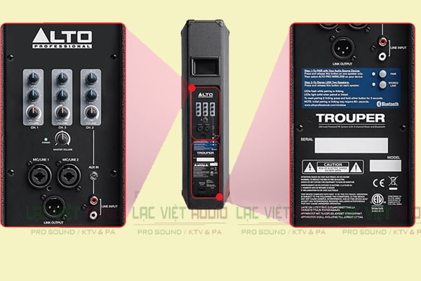 Chi tiết mặt sau Loa Alto Trouper - Lạc Việt Audio