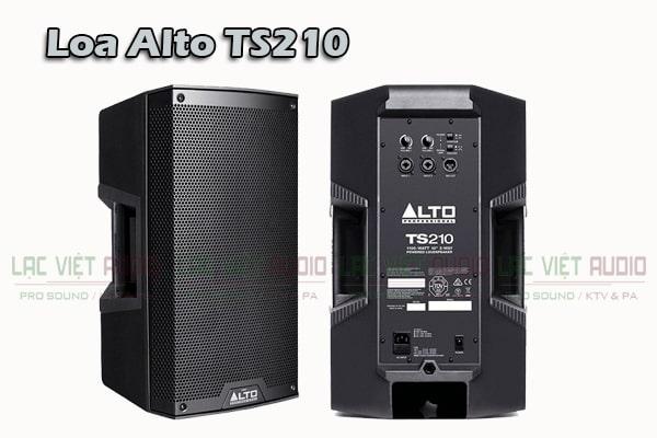 Mặt trước và sau Loa Alto TS210 (full điện bass 25cm)-Lạc Việt Audio