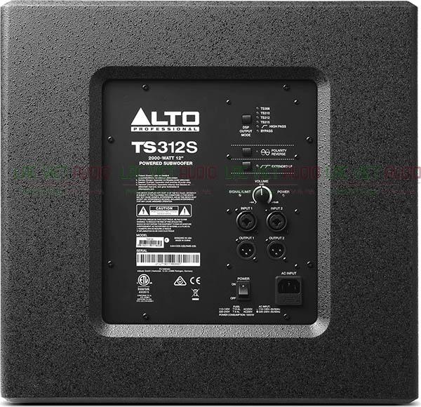 Cấu tạo mặt sau Loa sub Alto TS312s Lạc Việt Audio
