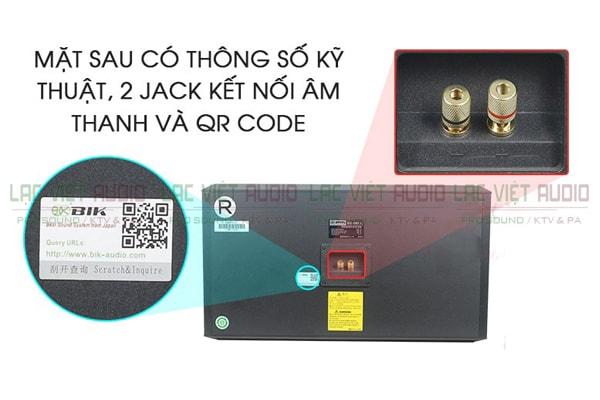 Cấu tạo mặt sau Loa BIK BS 998NV - Lạc Việt Audio