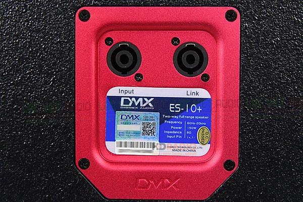 Thiết kế mặt sau Loa DMX ES 10+ - Lạc Việt Audio