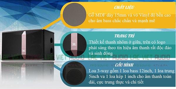 Cấu tạo của loa JBL KI512 - lạc Việt Audio