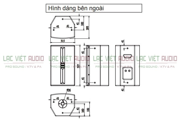 Cấu tạo của Loa karaoke BMB CSP 3000 - Lạc Việt Audio