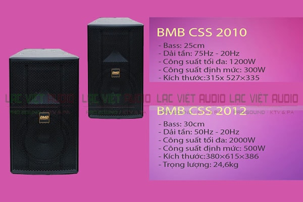 Thông tin về loa karaoke BMB CSS 2010 - Lạc Việt Audio