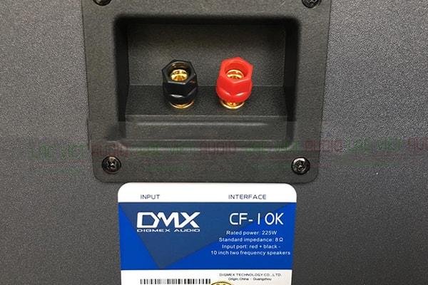 Mặt sau Loa DMX CF10K - Lạc Việt Audio