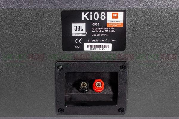 Mặt sau của loa JBL KI 08 Lạc việt Audio