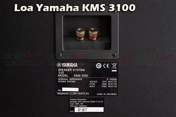 Cấu tạo mặt sau Loa yamaha KMS 3100- Lạc Việt Audio