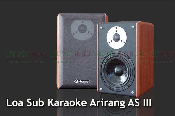Mặt trước không lắp ê căng Loa Sub Karaoke Arirang AS III