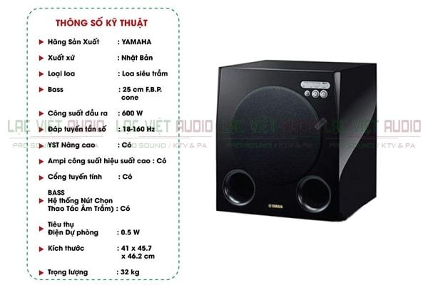 Thông số kỹ thuật của Loa Yamaha NS SW901