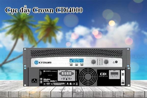 Thiết kế bên ngoài của sản phẩm Cục đẩy Crown CDi4000