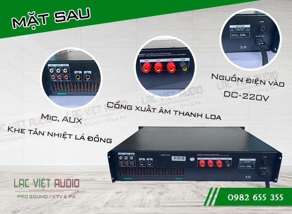 Cấu tạo mặt sau của Amply DB LP 1000F - Lạc Việt Audio
