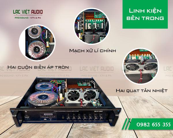 Cấu tạo bên trong của Amply DB LP 1000F - Lạc Việt Audio