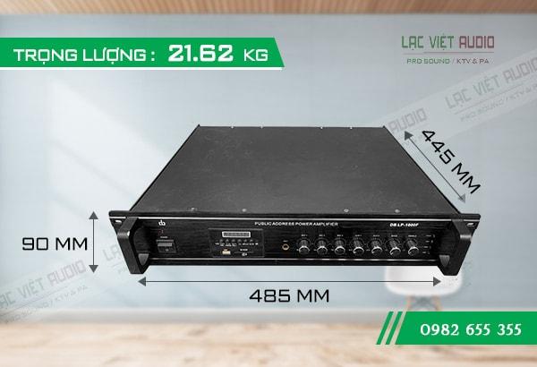 Kích thước của Amply DB LP 1000F - Lạc Việt Audio