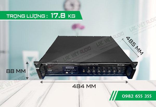 Kích thước của Amply DB LP 480F - Lạc Việt Audio