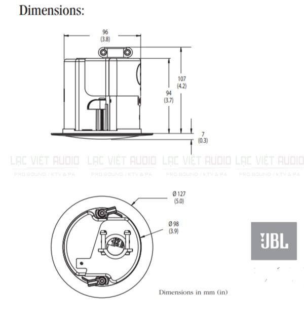 Thiết kế bên ngoài của sản phẩm Loa JBL Control 42C