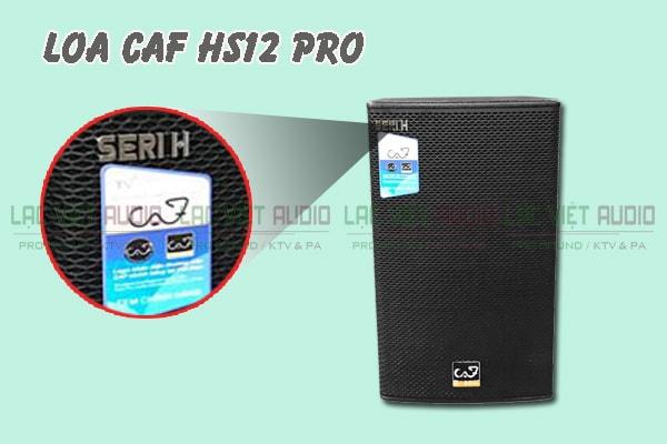 Chi tiết mặt trước Loa CAF HS12 Pro Lạc Việt Audio