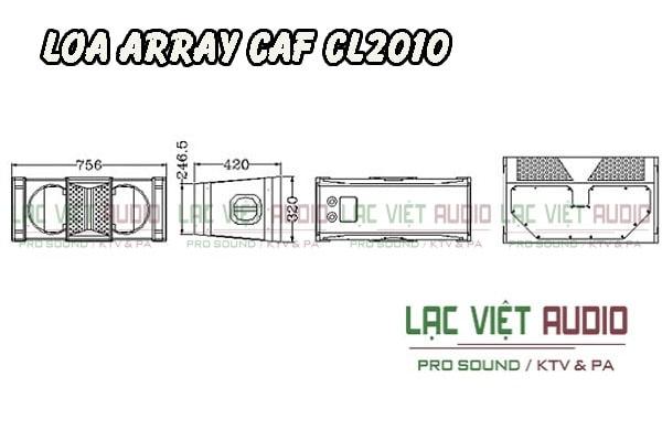 Thiết kế bên ngoài của sản phẩm Loa array CAF CL 2010